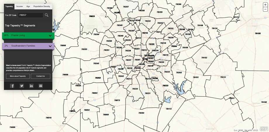 san antonio zip codes on map Map Shows Who San Antonio Residents Are What They Will Buy By san antonio zip codes on map