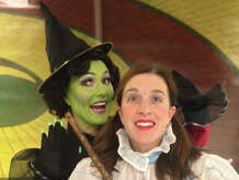 "Mary Mannix is Dorothy and Shelley Marsh Poggio plays the title role in ""The Wicked Witch of the West: Kansas or Bust!"" a new family musical being presented by Pantochino Productions through Nov. 2 at the Center for the Arts in Milford."