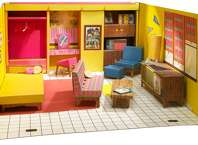 1962: Can you believe the first iteration of today's pink Barbie palace was made completely out of cardboard? The original design relied on Mad Men-esque style, including minimalist furniture and colors inspired by nature.