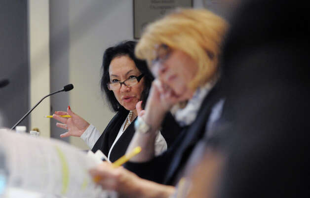 Betty Rosa, New York State Board of Regents member addresses her fellow board members during a meeting on Monday, Oct. 20, 2014, at the State Education building in Albany, N.Y.  (Paul Buckowski / Times Union) Photo: Paul Buckowski, Albany Times Union / 00029096A