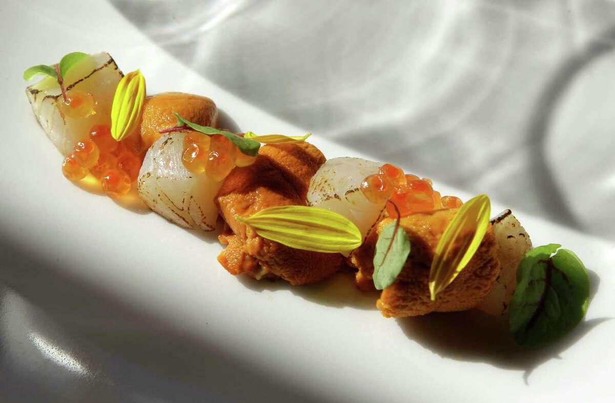 Among the sensational dishes Kuu serves is Utate, cured scallop with uni and smoked sea salt.