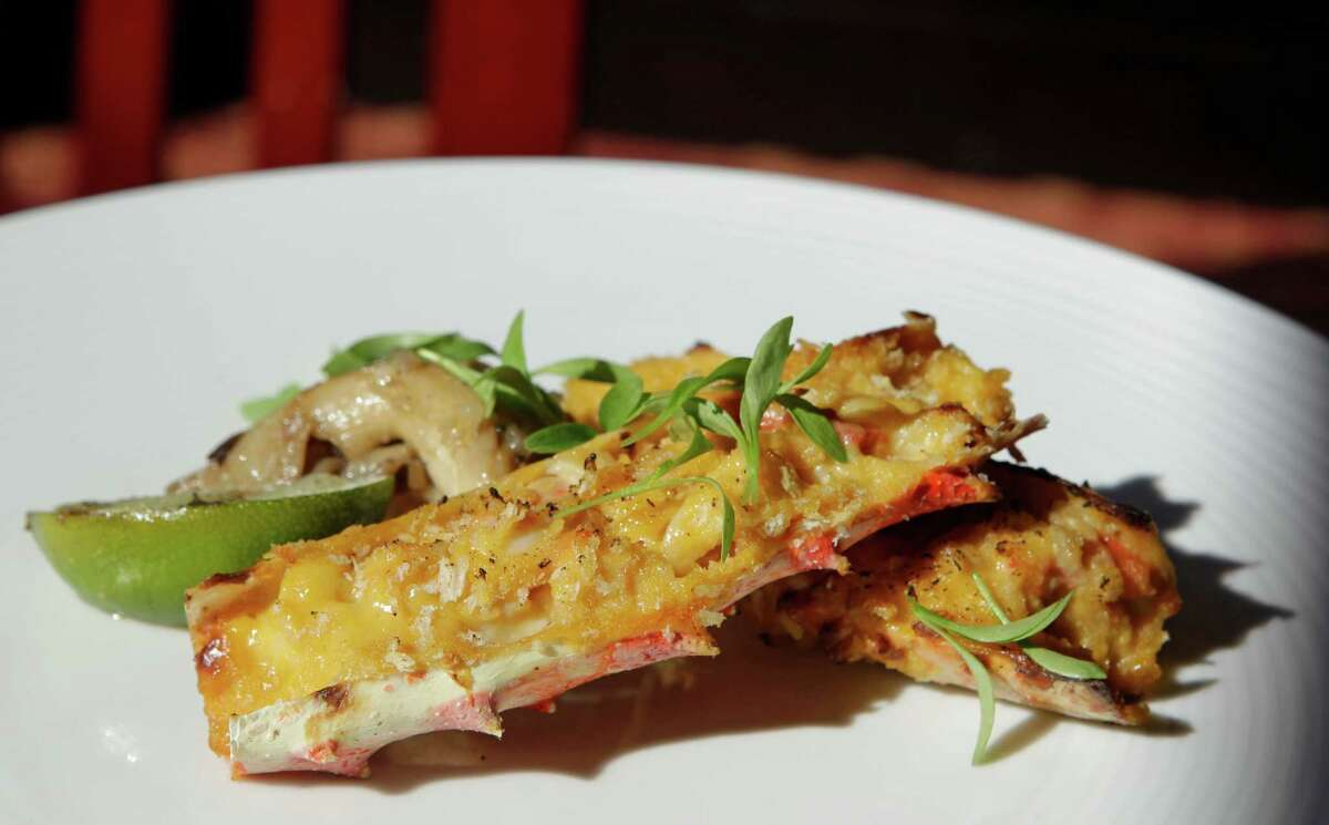 Uni-crusted king crab is all savory meatiness - a decadent splurge - at Kuu.