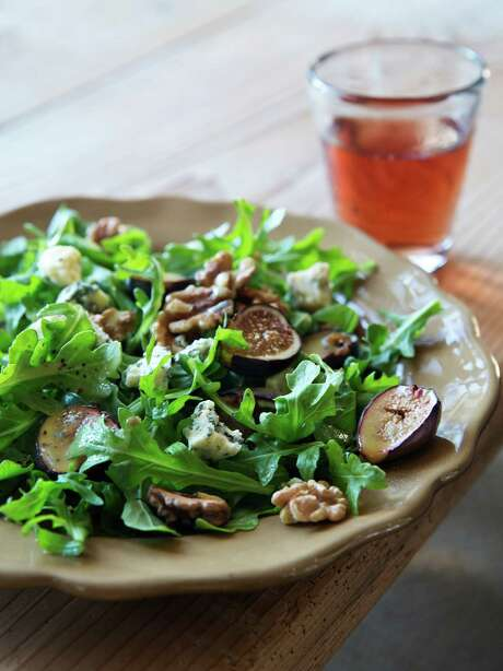 "Warm Fig & Arugula Salad from ""Make it Ahead"" by Ina Garten. Photo: Quentin Bacon, Photographer / ©Quentin Bacon"