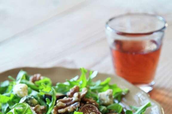 "Warm Fig & Arugula Salad from ""Make it Ahead"" by Ina Garten."