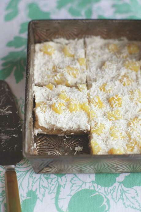 "Piña Colada Squares from ""Vegan Without Borders."""