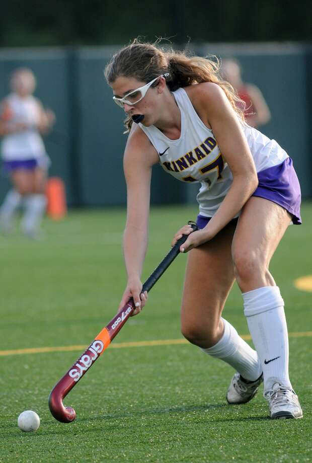 Kinkaid's Nikki Ereli is among the longtime veterans looking to lead the Falcons to an SPC championship next month. Photo: Jerry Baker, Freelance