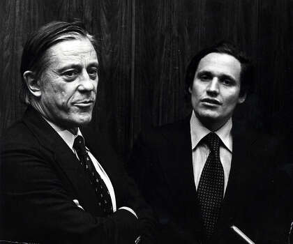 Ben Bradlee, 1921-2014: The former publisher of the Washington Post (pictured above with Bob Woodward) was one of the most influential people in the D.C. He died on Oct. 21 at age 93. Photo: Ron Galella, File Photo / Ron Galella Collection