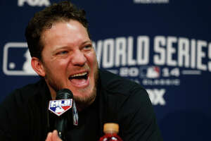 Game 2 starter Jake Peavy didn't short-change reporters at his news conference, but he did overwork a stenographer.