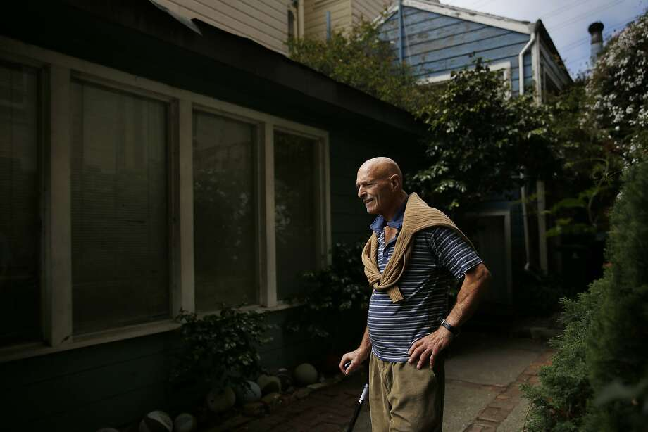 Jerrold Jacoby stands outside the Russian Hill home, where he recently evicted a tenant so that his daughter could move in and take care of him as he ages, on Friday, August 22,  2014 in San Francisco, Calif. Photo: Lea Suzuki, The Chronicle
