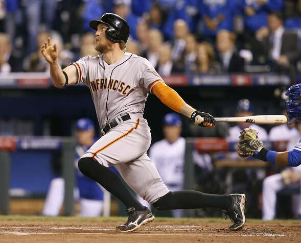 Hunter Pence's home run in the first inning gave the Giants a 3-0 lead, plenty for Madison Bumgarner and Co.