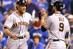 Hunter Pence's 1st-inning homer turns Royals' fans blue - Photo