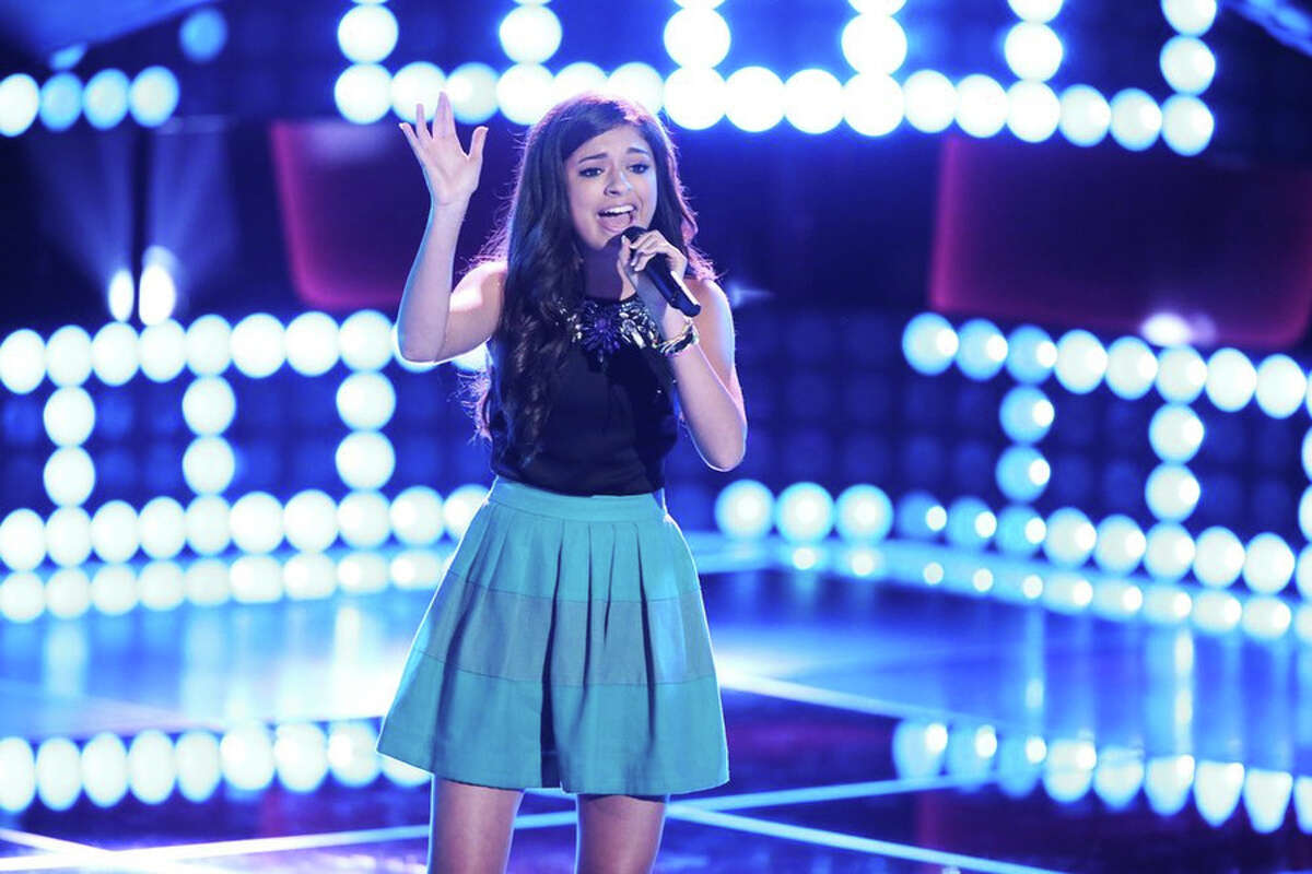 """THE VOICE -- """"Blind Auditions"""" Episode 701 -- Pictured: Bryana Salaz -- (Photo by: Tyler Golden/NBC)"""