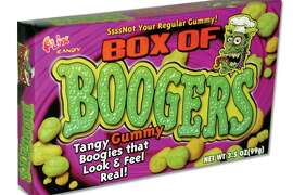Box of Boogers: Squishy, slimy candies that look and feel like boogers. Includes three flavors: Snottermelon, Sour Green Boogy and Lemon Loogy. Amazon.com