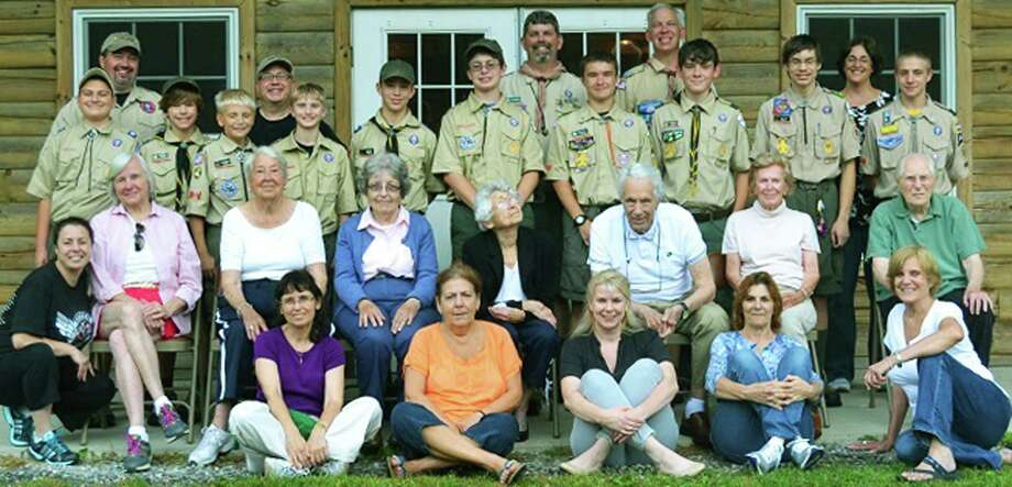 Boy Scout Trooop 158 in New Milford was well represented recently for a campout with senior residents and staff of the Watermark at East Hill. Photo: Contributed Photo / The News-Times Contributed