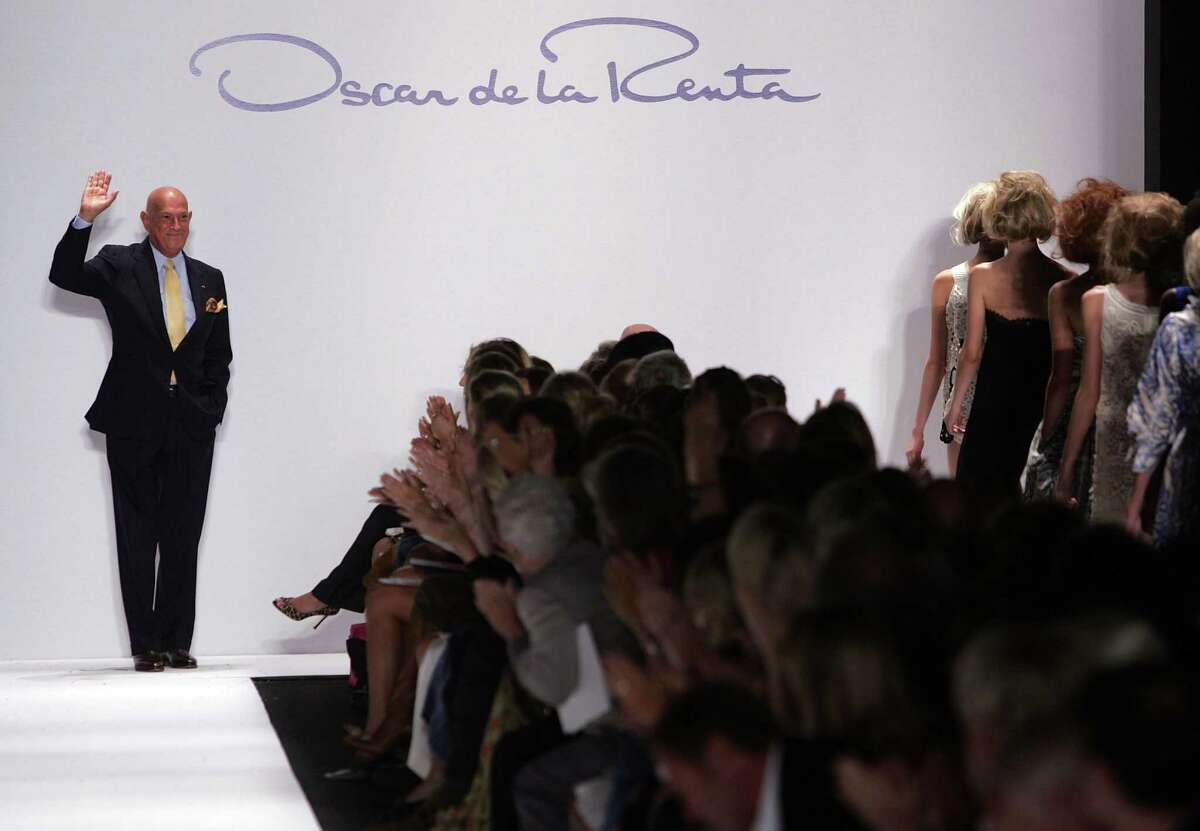 FILE - Legendary designer Oscar de la Renta died October 20, 2014 at his home in Kent, Connecticut. He was 82. NEW YORK - SEPTEMBER 11: Designer Oscar de la Renta walks the runway at the Oscar de la Renta Spring 2007 fashion show during Olympus Fashion Week in the Tent in Bryant Park September 11, 2006 in New York City. (Photo by Mark Mainz/Getty Images for IMG)