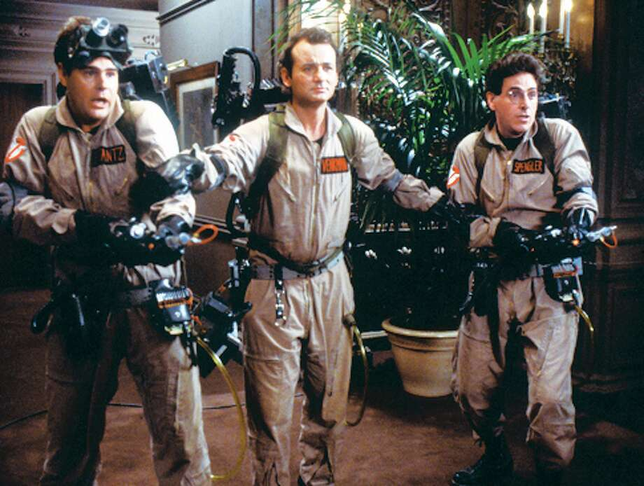 Dan Aykroyd, Bill Murray and Harold Ramis in GHOSTBUSTERS. Photo: Courtesy Of Sony Pictures Home E, GHOSTBUSTERS / Sony Pictures Home Entertainment