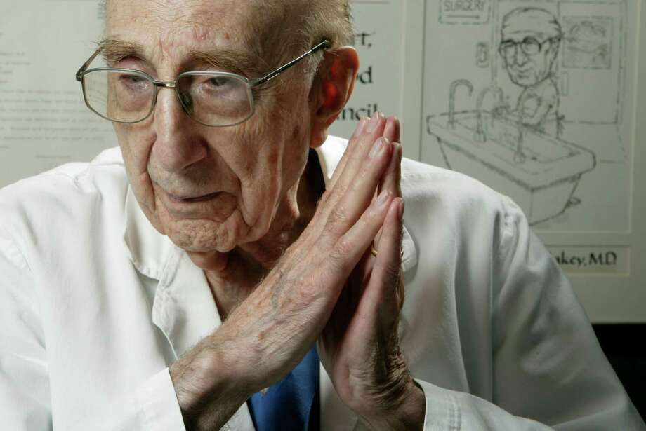 The late heart specialist Dr. Michael DeBakey loved poetry and has a contest named in his honor. Photo: Kevin Fujii, Staff Photographer / Houston Chronicle