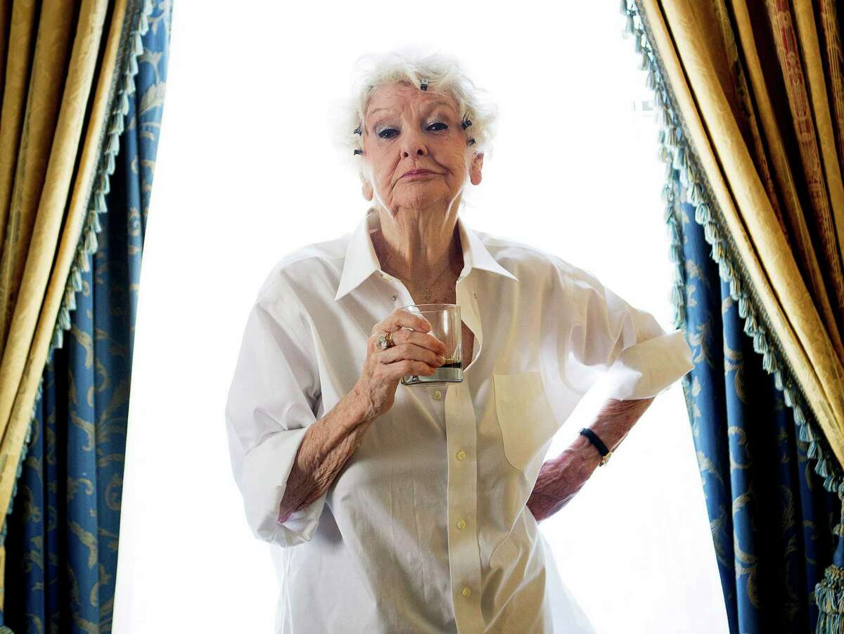 ELAINE STRITCH, 1925-2014. This Sept. 11, 2012 file photo shows actress Elaine Stritch posing for a photograph during the 2012 Toronto International Film Festival in Toronto. A one-night-only tribute to Stritch next month will feature Bernadette Peters, Patti Lupone, Hal Prince, Betty Buckley, Christine Ebersole and Michael Feinstein. The show,