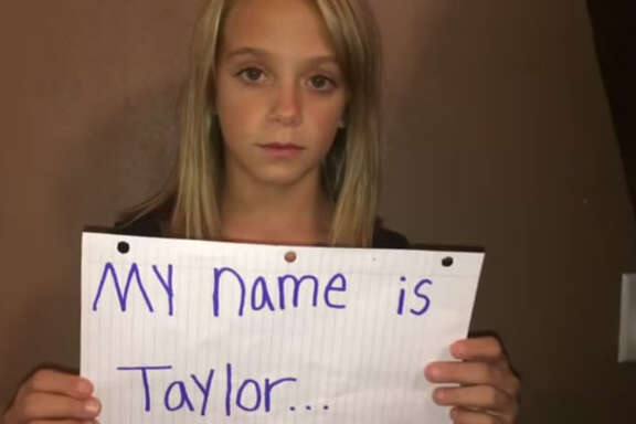 Nine year old Taylor Perkins' anti bullying video has got over ten thousand views on YouTube.  See her powerful message here...