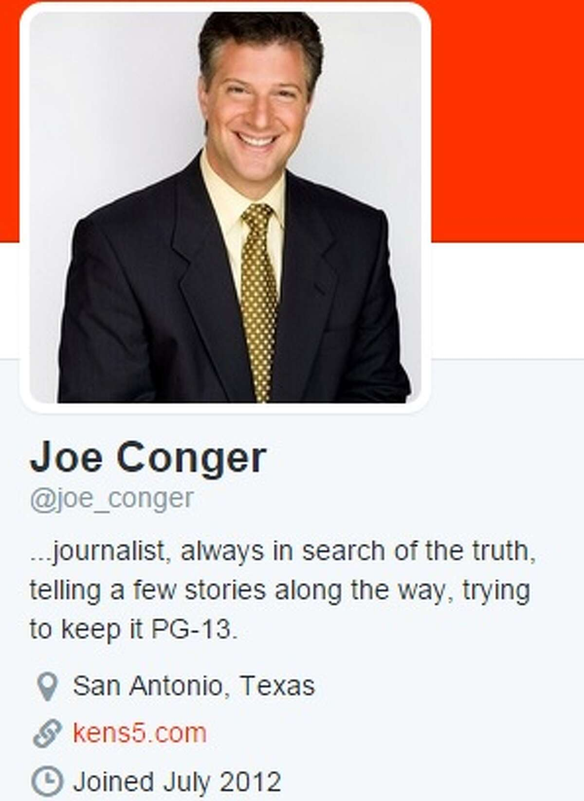 KENS reporter Joe Conger's Twitter account.