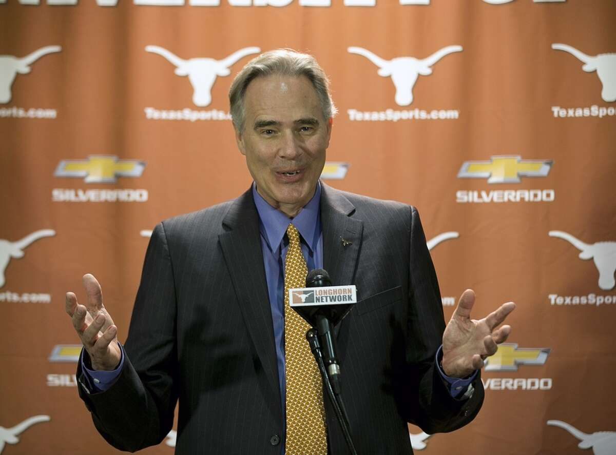 Steve Patterson is in his first year as athletic director at Texas.