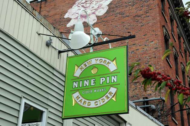 Nine Pin Cider at 929 Broadway on Friday Oct. 17, 2014 in Albany, N.Y.  (Michael P. Farrell/Times Union) Photo: Michael P. Farrell / 00029063A