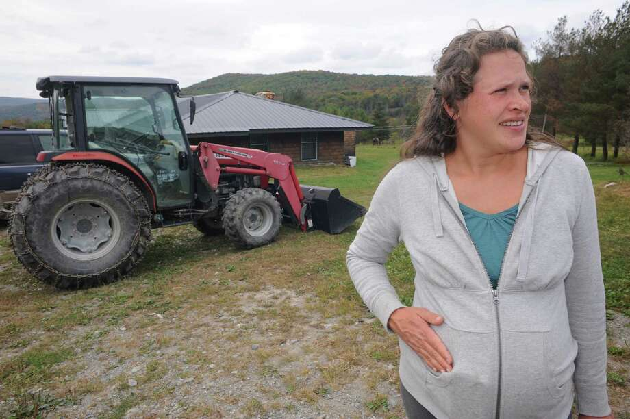 Eliza Winters at her Hill Hollow Farm on Thursday Sept. 25, 2014 in Petersburgh, N.Y.  (Michael P. Farrell/Times Union) Photo: Michael P. Farrell / 00028744A
