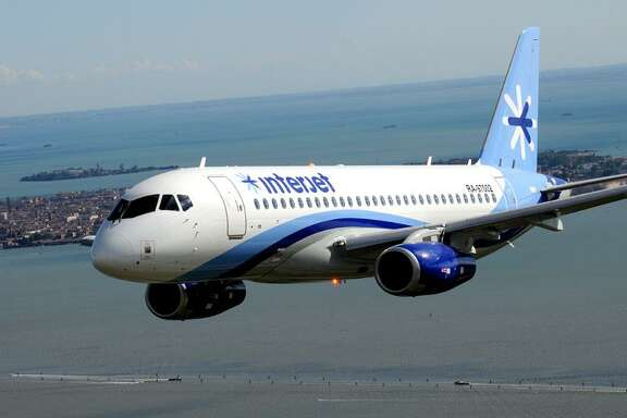 An Interjet plane. The Mexico-based airline added a nonstop route between Monterrey and Houston.  Interjet airplane (PRNewsFoto/Interjet)