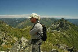 Steve Morris on Billy's Peak, in the Trinity Alps, shortly before he went missing on a hike there.
