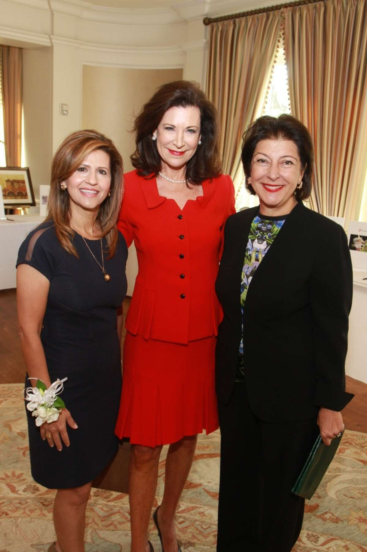 Mehrnaz Gill, from left, Betty Hrncir and Jaleh Sallee