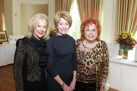 Mary Ann McKeithan, Jane Pauley and Maryann Hoffer at the Women's Health Summit benefiting the Huffington Center on Aging at Baylor College of Medicine at the River Oaks Country Club. Mary Ann McKeithan, from left, Jane Pauley and Maryann Hoffer. Mary Ann and Maryann are co-chairs. (For the Chronicle/Gary Fountain, October 22, 2014)