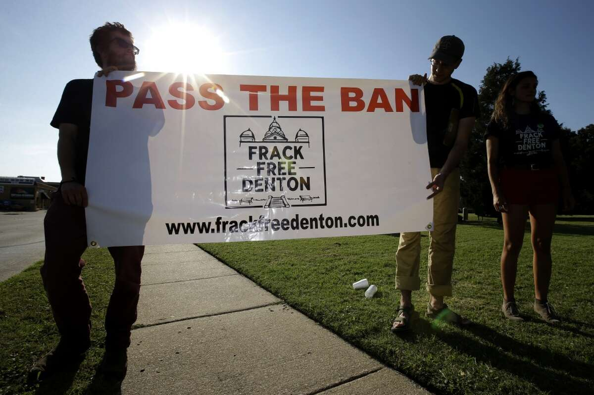Denton, Texas--the birthplace of fracking less than 40 miles from ExxonMobile's headquarters--voted to ban shale extractions of oil and gas in November 2014. The state's oil and gas regulator, the Railroad Commission, has challenged the city's authority in the ban.