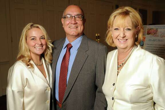 Annie Beck, Rick Hale and Debbie Beck at Foundation for Teen Health Annual Hope for the Future Luncheon at the River Oaks Country Club. From left: Annie Beck, Rick Hale and Debbie Beck at the Foundation for Teen Health's annual Hope for the Future Luncheon at the River Oaks Country Club Tuesday Oct 21, 2014.(Dave Rossman photo)