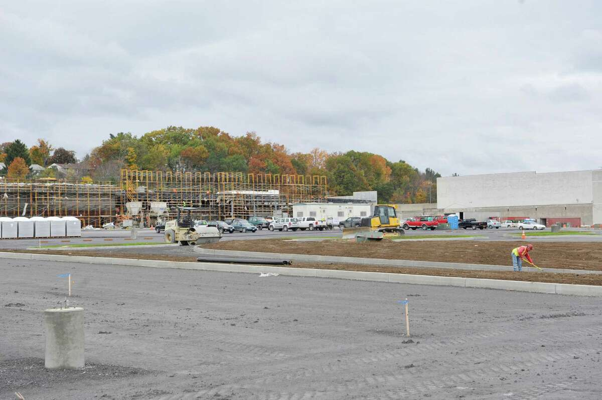 Construction work continues on the new 180,000-square-foot Walmart supercenter being built at the Shoppes at Latham Circle, seen here on Wednesday, Oct. 22, 2014, in Colonie, N.Y. (Paul Buckowski / Times Union)