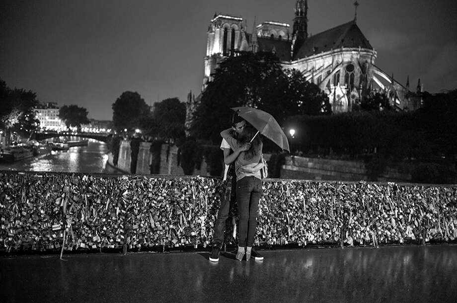 Behind Notre Dame Cathedral, 2012. Photo by Peter Turnley