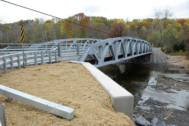 The Grant Hill bridge on Grant Hill Rd. is reopened after being closed since July 2013 for construction Wednesday, Oct. 22, 2014 in Guilderland, N.Y.  (Lori Van Buren / Times Union) Photo: Lori Van Buren / 00029162A