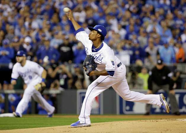Kansas City Royals pitcher Yordano Ventura throws during the first inning of Game 2 of baseball's World Series against the San Francisco Giants Wednesday, Oct. 22, 2014, in Kansas City, Mo. (AP Photo/David J. Phillip)  ORG XMIT: WS121 Photo: David J. Phillip / AP