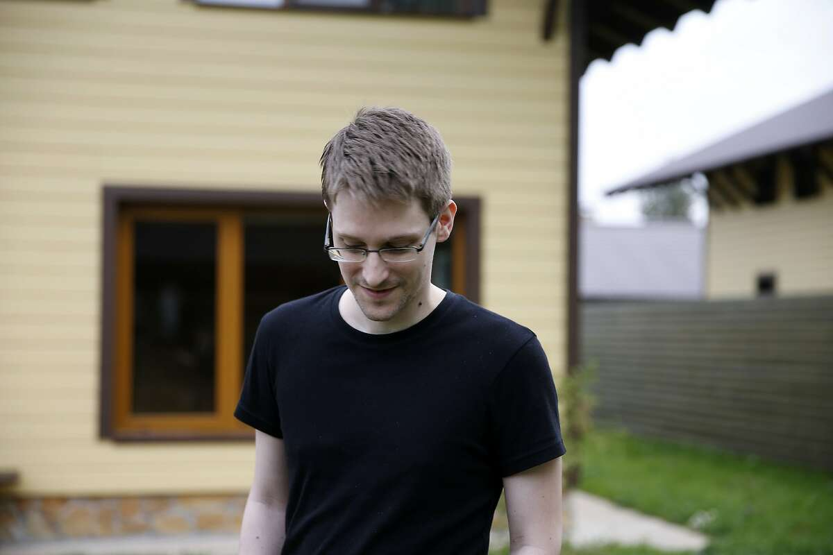 In this image released by Radius TWC, Edward Snowden appears in a scene from