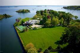 This 19,773 square foot mansion on 6 waterfront acres in Greenwich just listed for $54 million. Photo courtesy of Coldwell Banker