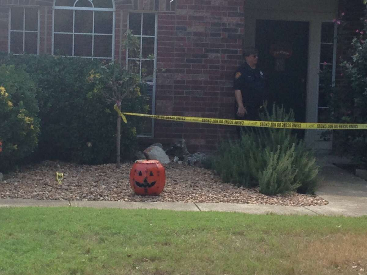 San Antonio police investigate a scene Thursday October 23, 2014 at the 23,100 block of Blackwater on the city's North Side. Police said five-month-old baby was dead at the scene and the circumstances of the baby's death are being investigated.