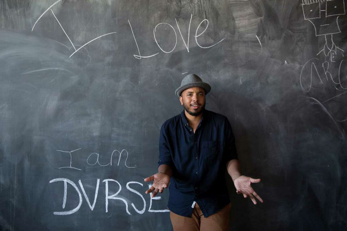 """Justin Simien , the director of """"Dear White People,"""" is a graduate of Houston's High School for the Performing and Visual Arts. The New York Times movie critic recently called the movie """"as smart and fearless a debut as I have seen from an American filmmaker in quite some time."""" Andrew Dansby talks with Simien about his inspiration and his time at HSPVA at houstonchronicle.com"""