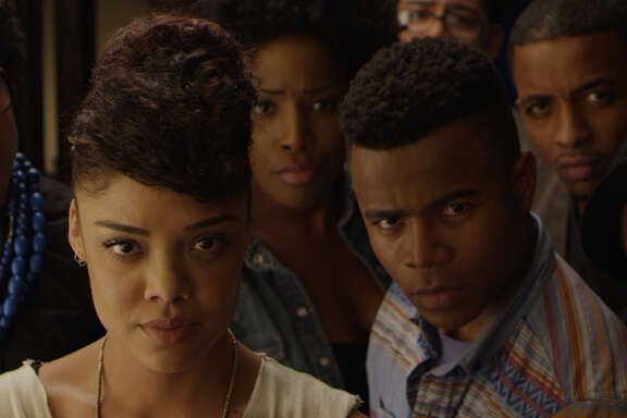 Tessa Thompson and the cast of DEAR WHITE PEOPLE     Photo Credit: Courtesy of Roadside Attractions