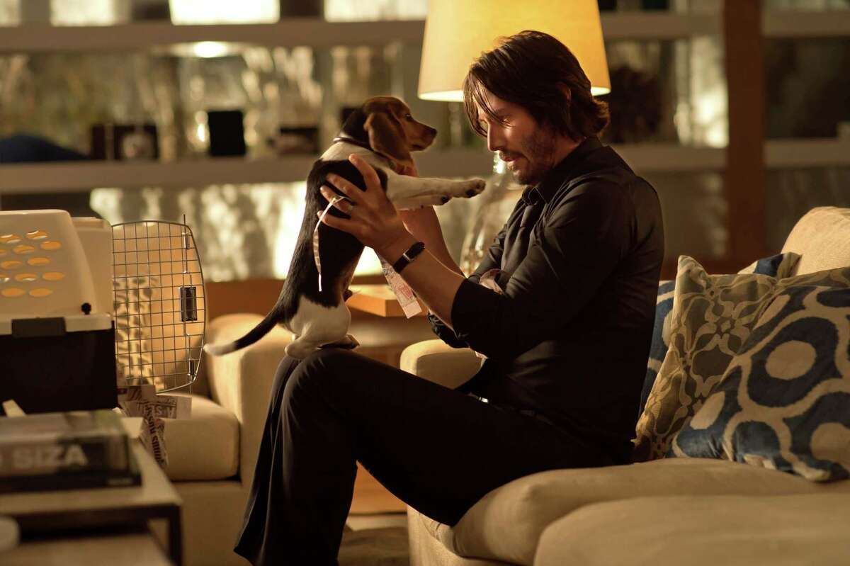 This photo released by Lionsgate shows Keanu Reeves as John Wick in a scene from the film,