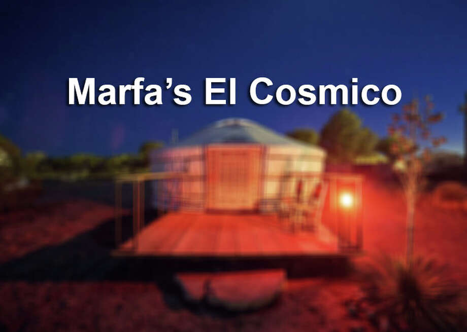 Guests can now book an authentic Mongolian yurt at El Cosmico in Marfa. The hotel and campground also offers yurts for sale on-site and through its online store, ecprovisionco.com. Photo: Nick Simonite / El Cosmico