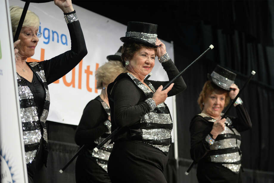 The Happy Steppers perform at the Beaumont Senior Expo at the Civic Center on Thursday.