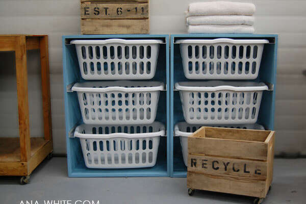 Laundry Dresser  Your laundry room in shambles? Homeless laundry baskets strewn across the room or stacked in piles that are-let's be real-really annoying to separate?  Ana White  has a great solution: A simple-to-build dresser that allows you to slide your laundry baskets in and out when you need to use them-and store them in between washings. Genius.         The 10 Things Every Bedroom Needs   The Decor Experiments You Must Try By 30   10 Problems Only Renters Understand   The 30-Minute, $0 Living Room Makeover   What's Hot and Not In Design Trends Now   The DIY Projects That You Need To Update