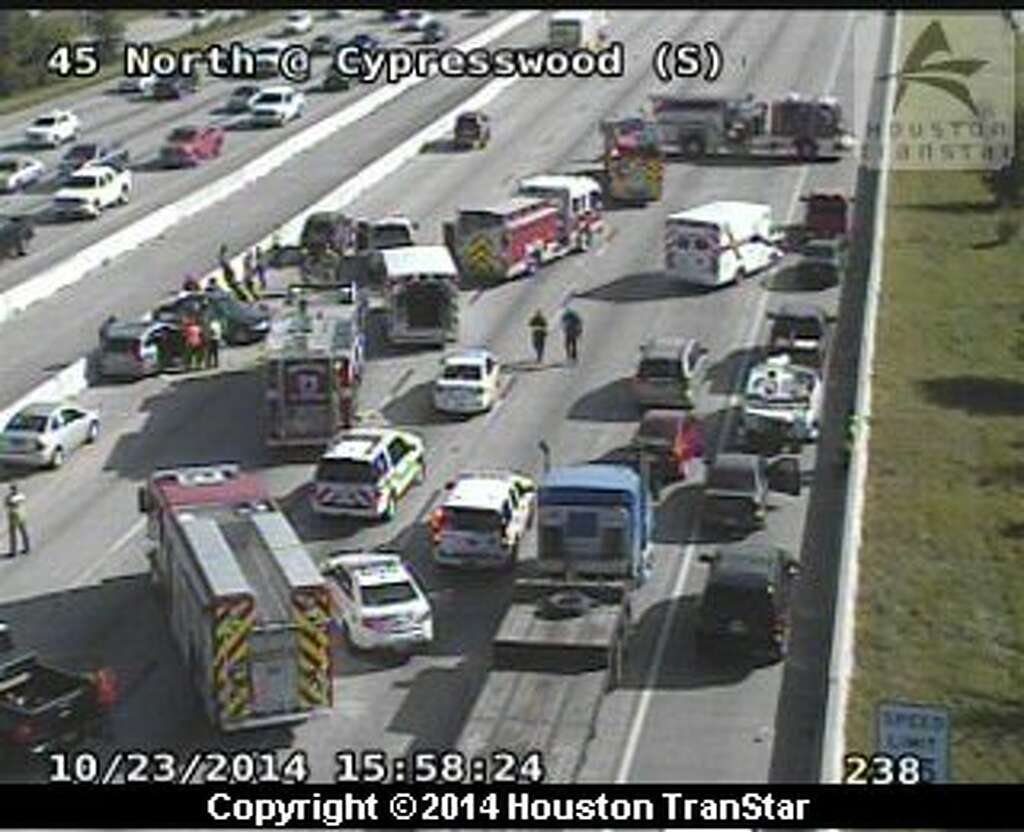 Accidents on I-45, US-290 jamming rush hour traffic - San