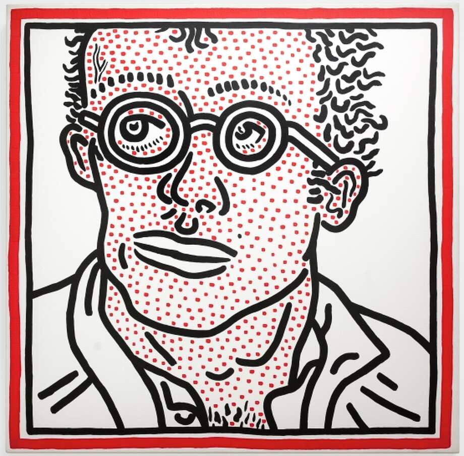 A Keith Haring self-portrait, 1985. Photo: 2014 Keith Haring Foundation / 2104 Keith Haring Foundation / ONLINE_YES