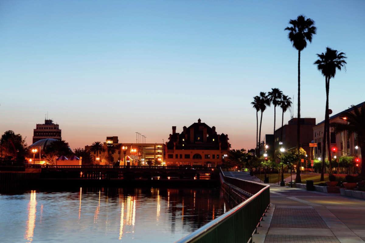 25) Stockton, California Total score:59.99Travel cost & hassle rank:51Local cost rank:46Attractions rank:77Weather rank:2Activities rank:51
