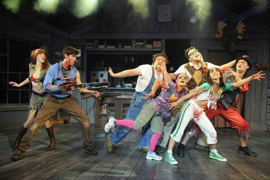 """Evil Dead the Musical"":  7:30 p.m. Oct. 28, Proctors, 432 State St., Schenectady. The musical comedy takes all the elements of Sam Raimi's cult classic films — ""Evil Dead,"" ""Evil Dead 2"" and ""Army of Darkness"" -— then combines them to make one theatrical experience. It's also the only musical in the world where audiences can sit in a ""Splatter Zone!"" and get drenched from the onstage mayhem. $20-$85; proctors.org (Courtesy of Proctors)"